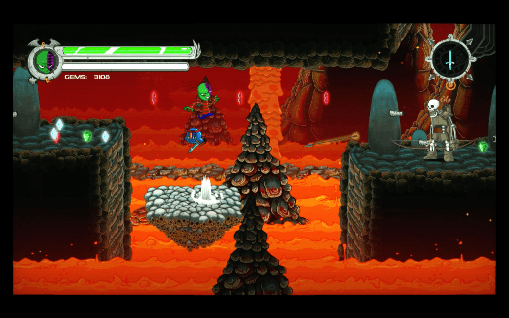 Nightmare Boy is a lava filled area