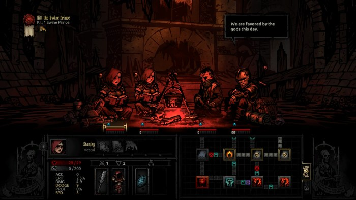 Camping in Darkest Dungeon