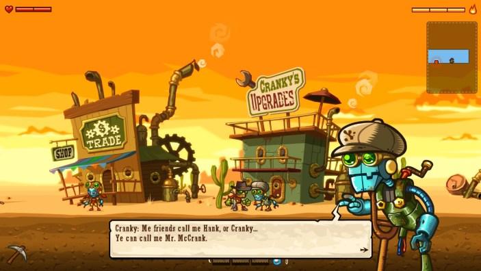 Steamworld Dig Cranky
