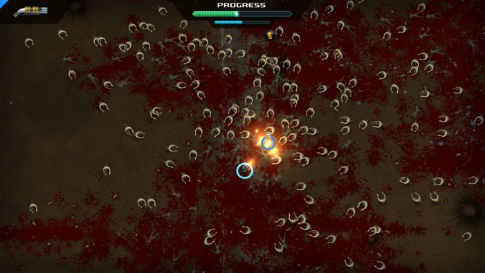 Crimsonland attacking
