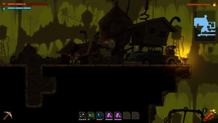 Steamworld Dig dark