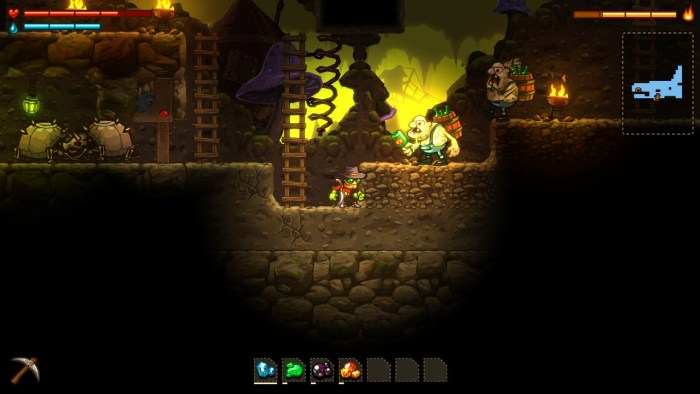 Steamworld Dig enemies