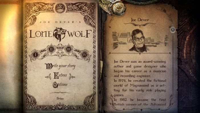 Joe Dever's Lone Wolf profile page