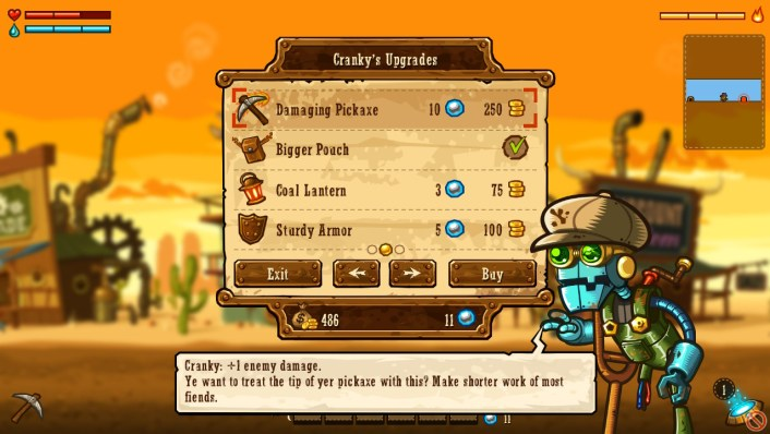Steamworld Dig Cranky's Shop
