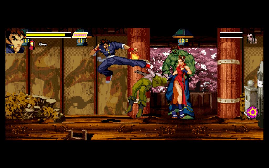 gekido gameplay kick