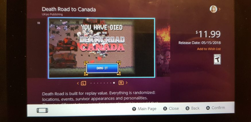 Death Road to Canada eShop Image