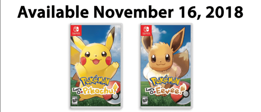 Pokemon Let's Go Pikachu and Let's Go Eevee Announced