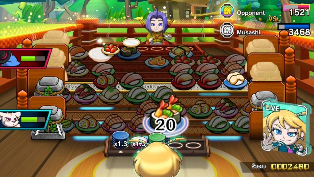 Sushi Striker the way of sushido gameplay