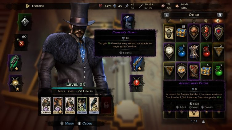 Victor Vran Cavalier's Outfit