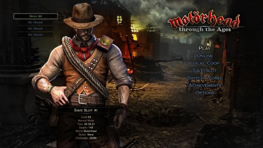 Victor Vran menu screen