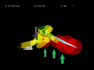 Super Smash Bros. Ultimate Blast Hitbox Link