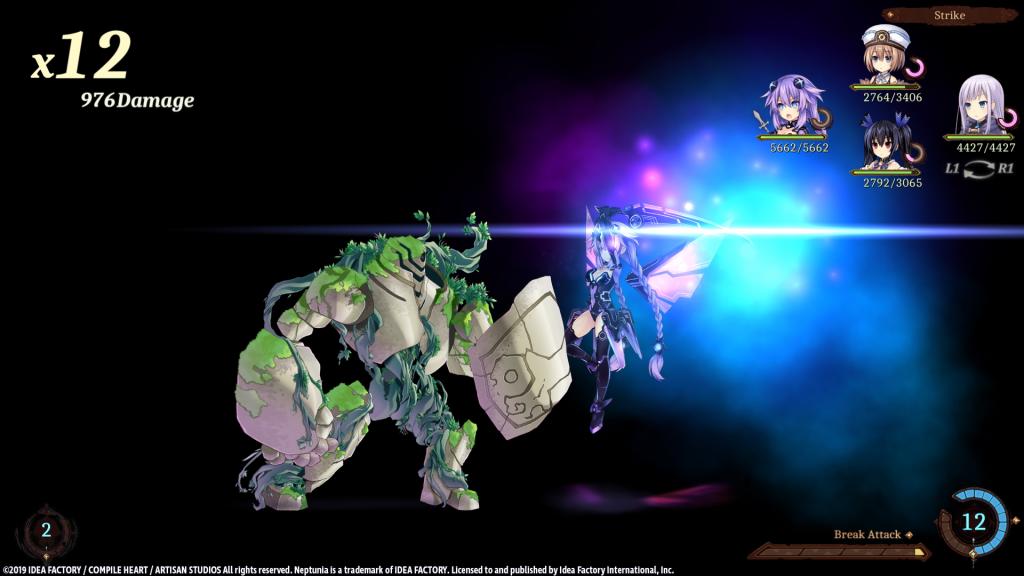 Neptunia Battle Screenshot