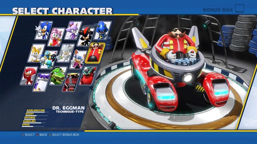 Team Sonic Racing Characters