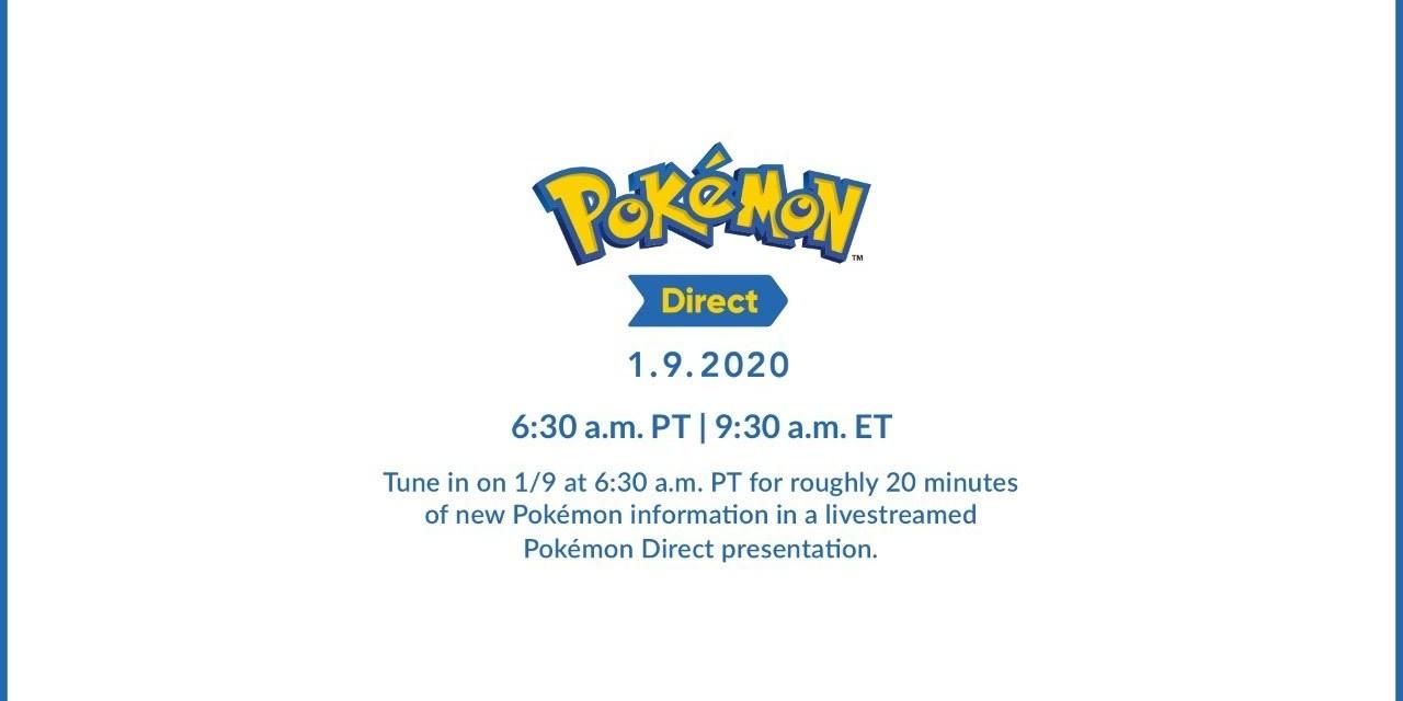 Pokémon Direct Will Be Live on January 9, 2020
