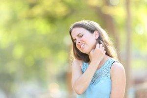Sweat rash neck