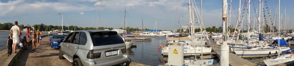 russian bikini models in yacht marina