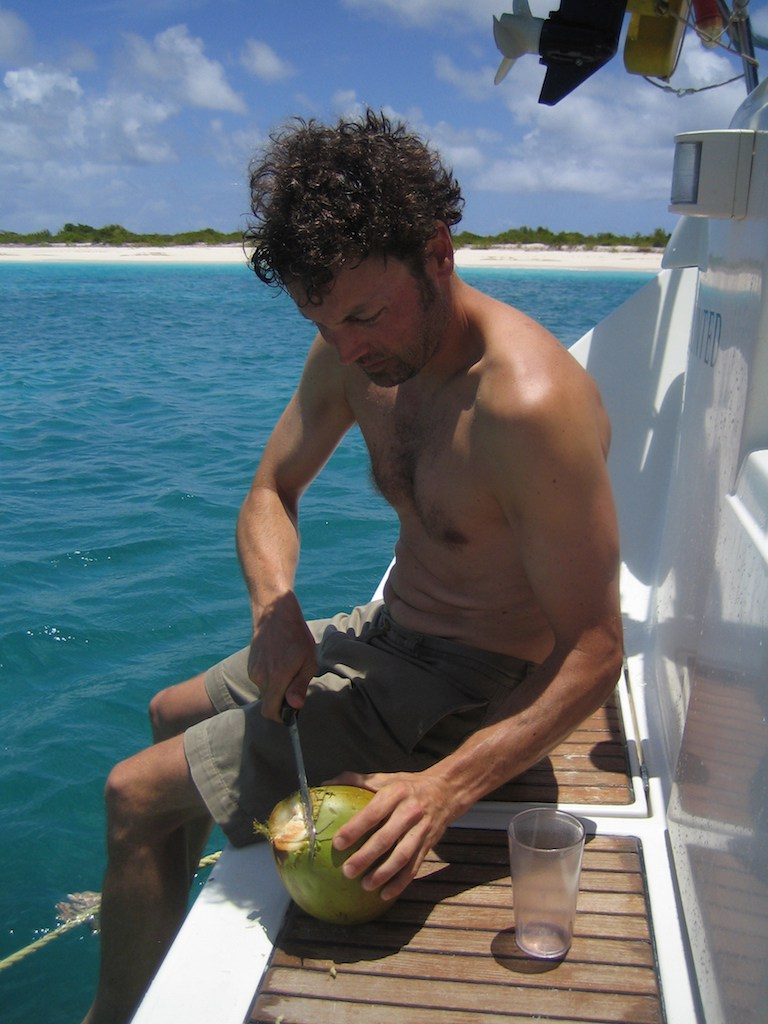 What would you rather do? Shovel snow or open a fresh coconut on the stern of a charterboat in the tropics?