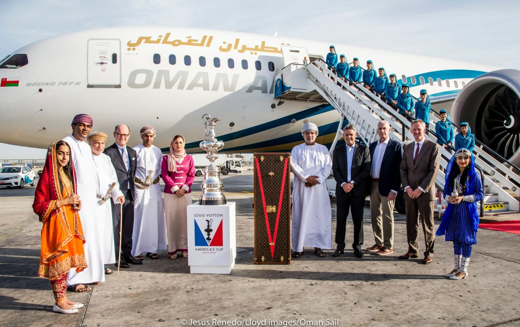 America's Cup arrives in Muscat. Louis Vuitton America's Cup World Series Oman 2016.