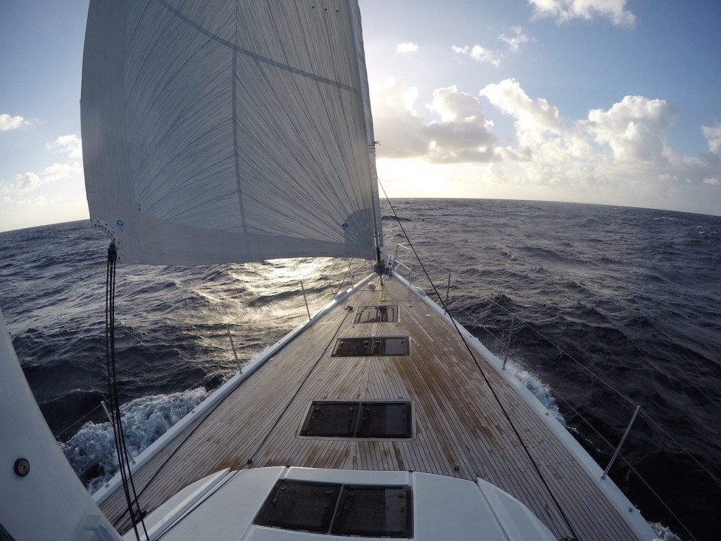 Jeanneau 64 under sail