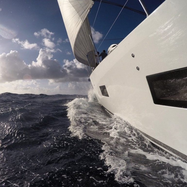 Downwind to paradise.
