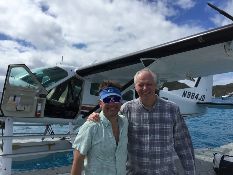 Flying out on a seaplane with this famous Amrica's Cup guy takes the sting out of leaving the BVI (kinda).
