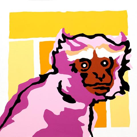 """Hoolock, acrylic on canvas, 36""""x36"""""""