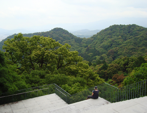 19_mountain view Kompirasan shrine