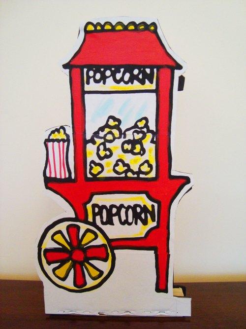 Popcorn cart.