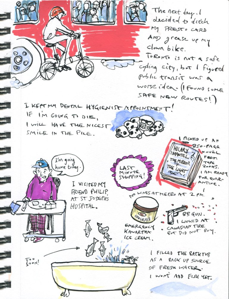 Page 2 My Pandemic Library: cycling, stockpiling, Phil