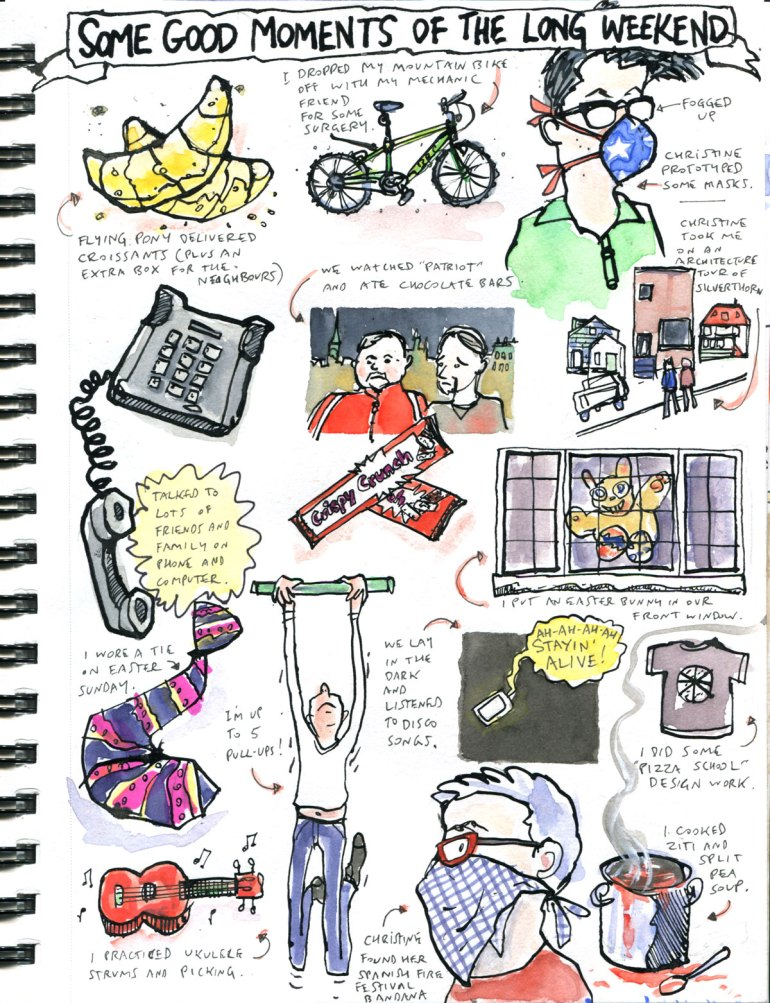 My Pandemic Diary page 31 good moments of the long weekend