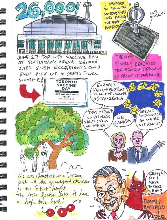 My Pandemic Diary part 3 page 6 sketchbook Swizzle Studio
