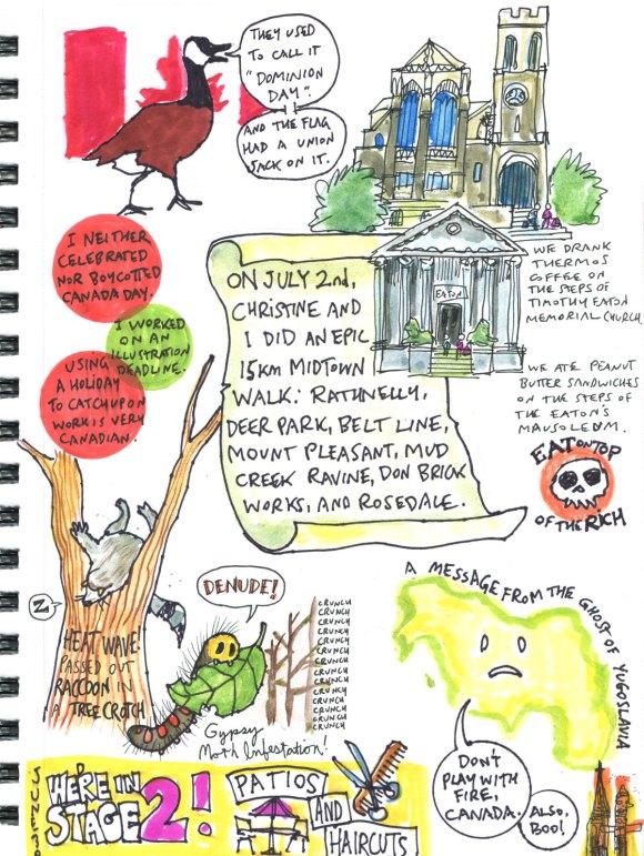 My Pandemic Diary part 3 page 7 sketchbook Swizzle Studio