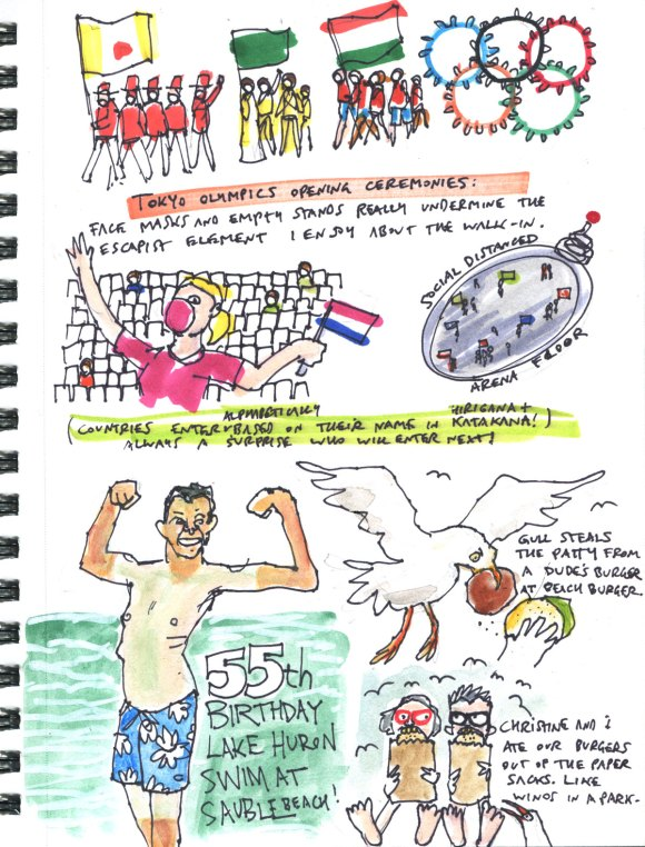 My Pandemic Diary part 3 Page 12 Birthday, Tokyo Olympics