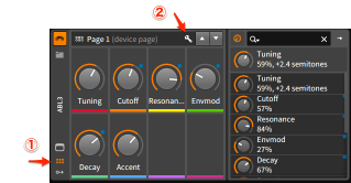 Bitwig RemoteControls