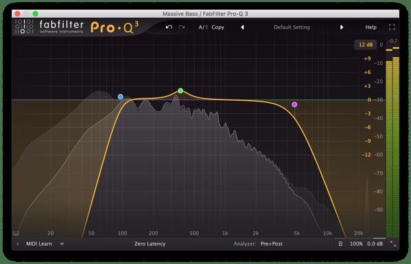 FabfilterProQ3 Bass