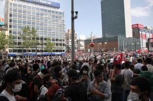 Gezi protest in K?z?lay Square, Ankara (Source: Wikimedia Commons)