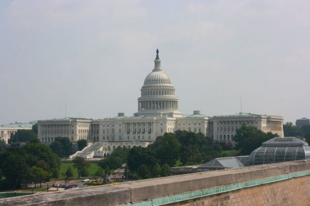 View of the Capitol Building from the roof of the Voice of America on 330 Independence Ave., S.W.