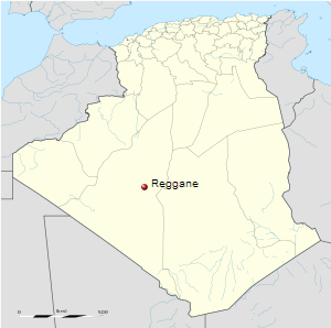 Location of Reggane within Algeria