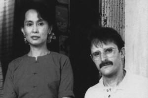 Dan Robinson with Aung San Suu Kyi.