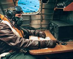 The B-17 radio operator's position (Source: AZ Commemorative Air Force)