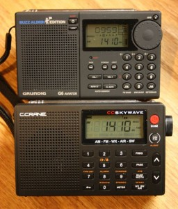The CC Skywave is nearly identical in size to the late and great Grundig G6.