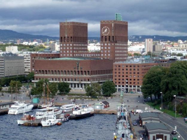 The City Hall (Radhus) in Oslo, Norway.  (Source: Public Domain)