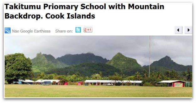 Radio Cook Islands 630 kHz antenna on the school ground of Takitumu Primary School.