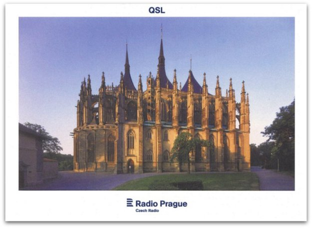 A Radio Prague QSL card.