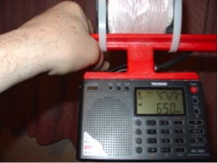 Station WSM / 650 kHz in Nashville, Tennessee 1082 miles distance.