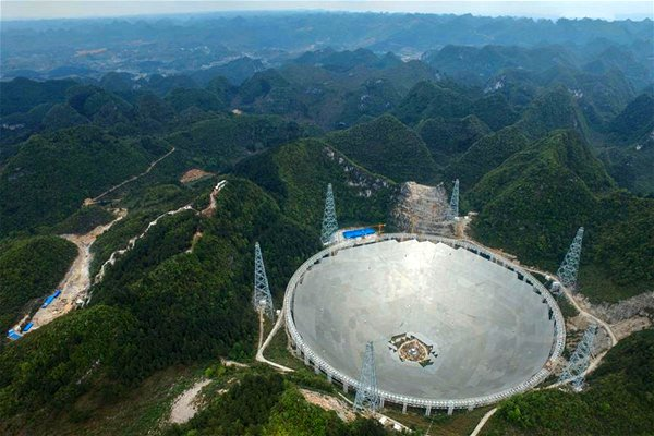 FAST radio telescope [Photo/Xinhua: State Council, People's Republic of China]