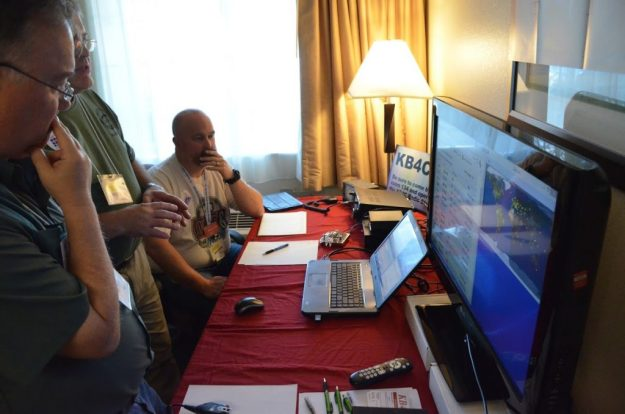 Each year, the convention operates as KB4C in a dedicated radio room. This year, we had two IC-7300 transceivers on the air.