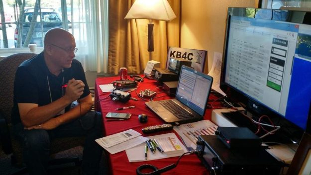 Conference attendees took turns operating the KX2.