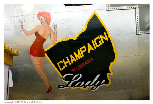 "B-17G ""Champaign Lady"" nose-art"