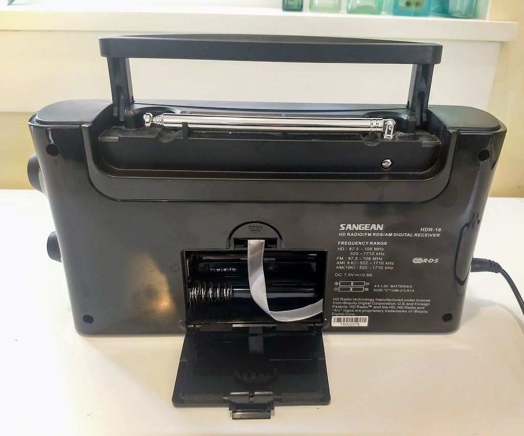 Sangean HDR-16 HD Radio//FM-Stereo//AM Portable Radio